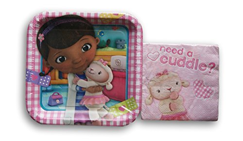 Doc McStuffins Party Supply Kit - Dinner Plates and Napkins
