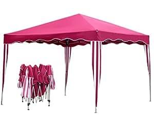 Tente pliante pavillon à plier 3 x 3 m tente de jardin en rouge