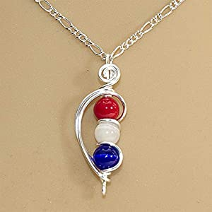 US Flag Patriotic Handmade Necklace