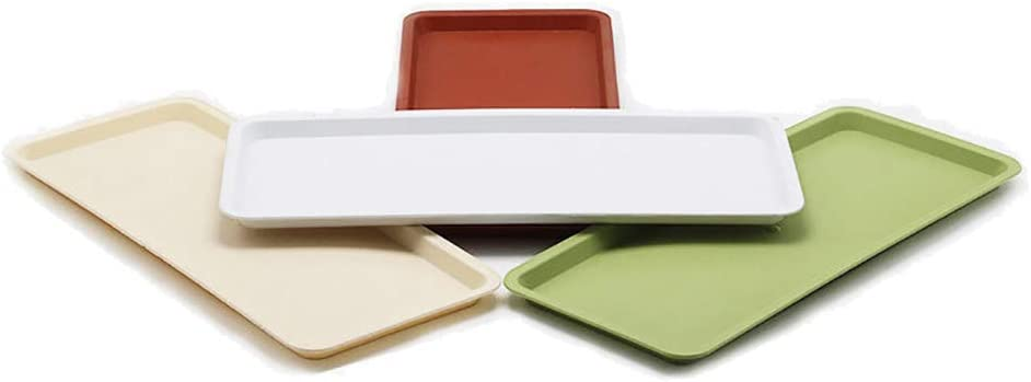 Ellis Plastic Rectangular Planter Pot Saucer Tray for Indoor and Outdoor Plants,Pack of 4