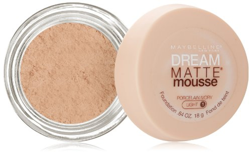 Ivory Porcelain - Maybelline Dream Matte Mousse Foundation, Porcelain Ivory, 0.64 fl. oz.