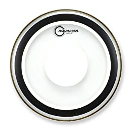 Aquarian Drumheads SXPD16B Studio-X with Dot 16-inch Bass Drum Head, with Dot