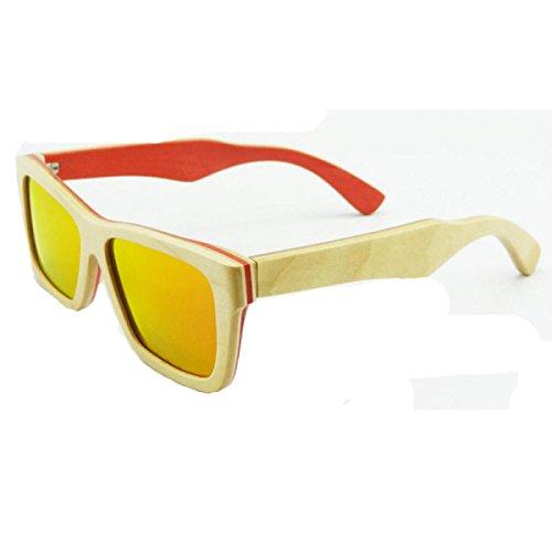 Gafas Polarizadas Aire De Libre Madera a2 Encuadre Completo Unisex Al Uv400 Sol A3 O1UE1pqnw