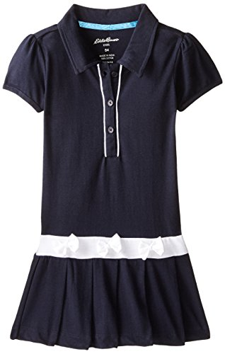 School Apparel Plaid Jumper - Eddie Bauer Girls' Dress Or Jumper (More Styles Available), Navy with White, 5/6
