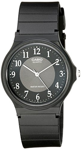(Casio Men's MQ24-1B3 Watch with Black Rubber Band)