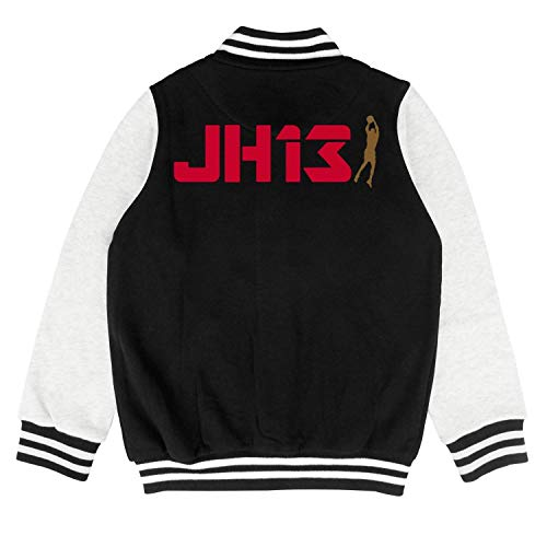 James 13 Logo Child Varsity Coat Classic Baseball Jacket for 2-10 Y