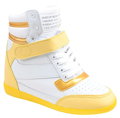 Ace Women's High-top Wedge Hidden Heel Platform Fashion Sneakers