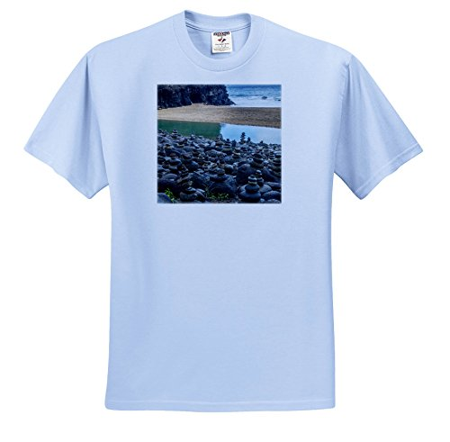 (Danita Delimont - Beaches - Hawaii, Kalalau Trail, Kauai, Napali, Pacific Ocean, Rock Cairns - T-Shirts - Light Blue Infant Lap-Shoulder Tee (6M) (TS_278938_74))