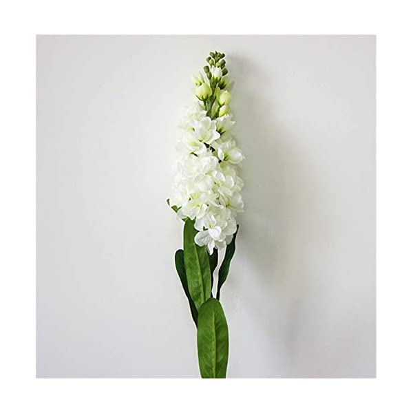Skyseen 6PCS Stems 32″ Artificial Antirrhinum Snapdragon Silk Hyacinth Flowers(White)