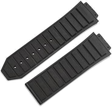 「ウブロ(Hublot)向け」輸入王オリジナル キングパワー 48mm ケース用 社外品 ラバーベルト ブラック
