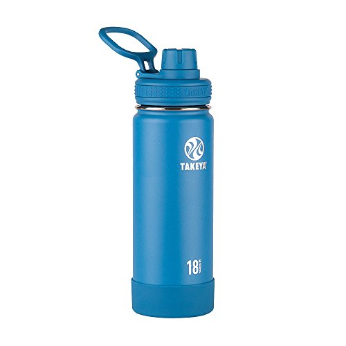 Takeya Actives Insulated Stainless Water Bottle with Insulated Spout Lid, 18oz, Sapphire