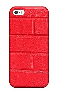 AmandaMichaelFazio Snap On Hard Case Cover Bright Red Brick Wall Protector For Iphone 5/5s