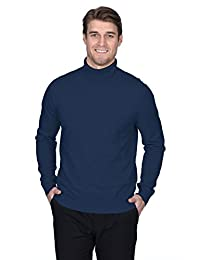 State Fusio Men's Cashmere Wool Turtleneck Long Sleeve Pullover Sweater
