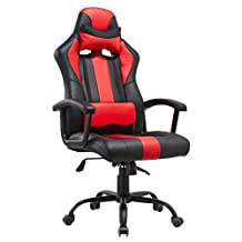 Porthos Home DCH015A RED Lorenzo Gaming Chair, Stripe, Red