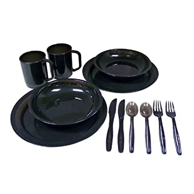 Coleman 2-Person Camping Dinnerware Set (Colors Vary)