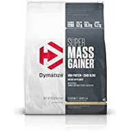 Dymatize Super Mass Gainer Protein Powder with 1280 Calories Per Serving, Gain Strength & Size Quickly, Gourmet Vanilla, 12 lbs