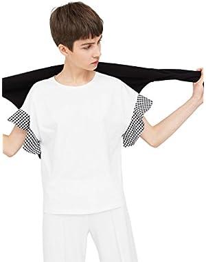 Mango Women's Ruffled Sleeve T-Shirt