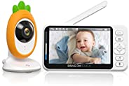 """Video Baby Monitor, Dragon Touch E40 4.3"""" HD LCD Display with Camera, Two-Way Audio, Invisible LED Night"""