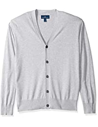BUTTONED DOWN Men's Supima Cotton Lightweight Cardigan Sweater