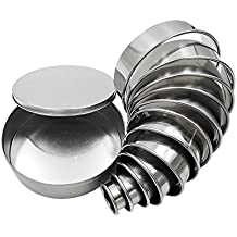 Homy Feel Round Cookie Biscuit Cutter Set 12 Circle Pastry Donut Doughnut Cutter Set Round Cookie Cutters Circle Baking Metal Ring Molds