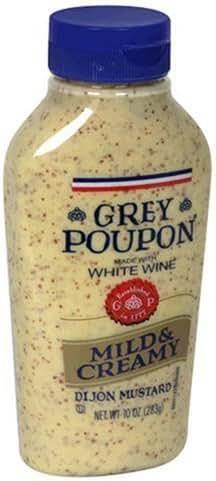 Mustard: Grey Poupon Mild & Creamy