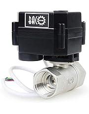 """BACOENG 3/4"""" DN20 Edelstahl BSP 2 Wege Motorkugelhahn Zonenventil(DC12V CR02 3 Drähte Elektrische Elektro Kugelventil)"""
