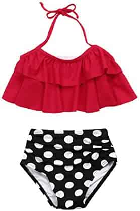 f4764b722e53 Goodlock Toddler Kids Fashion Bikini Set Baby Girls Ruffles Swimwear Bathing  Bikini Set Outfits Swimsuit 2Pcs