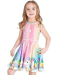 2380467661e Girls Dress Sleeveless Long Sleeve Kids Toddler Little Big Girl Unicorn  Mermaid Casual Dresses