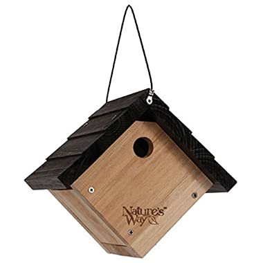 Nature's Way Bird Products CWH1 Cedar Wren House, 8  x 8.875  x 8.125