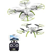 Dayan Anser Hovering Function Barometer Set Height Syma X5HC 2.4G 4CH 6Axis Headless Mode RC Quadcopter RTF with 2.0MP HD Camera 360 Degree 3D Eversion Function and Throwing Flight Function (White)