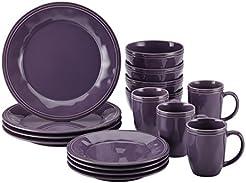 Rachael Ray 16-Piece Cucina Stoneware Dinnerware Set Lavender/Purple  sc 1 st  Amazon.com & Amazon.com: Purple - Dinnerware Sets / Dining u0026 Entertaining: Home ...