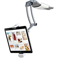 CTA Digital 2-in-1 Kitchen Mount Stand for 7-13 Inch Tablets / iPad Air/ iPad Pro 12.9 / Surface Pro (PAD-KMS)