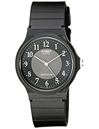 Casio Men's MQ24-1B3 Analog Black Rubber Strap Watch