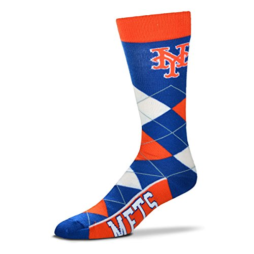 New York Mets For Bare Feet Argyle Crew Socks – DiZiSports Store