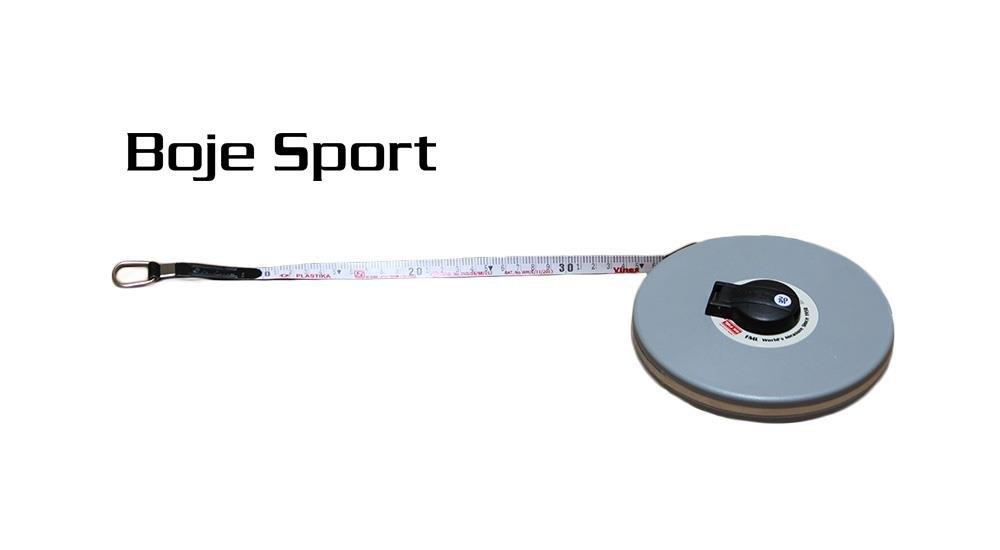 Boje Sport Geschlossenes Fiberglas Messband L/änge 50 Meter