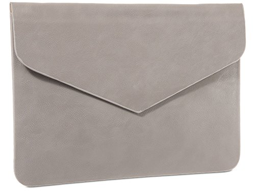 For Oversized Diva's Prom Posh Leather Inspired Bag Classic Designer Faux Clutch Hand Grey Haute Envelope Party dxf5wqzd