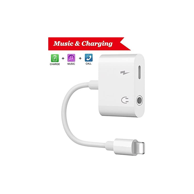 Lightning Jack Headphone Adapter Charger
