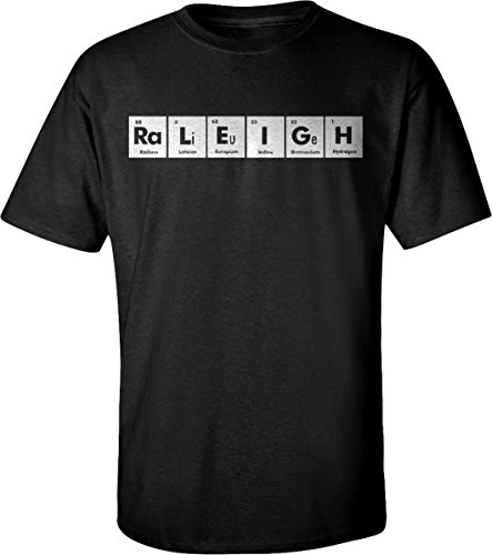 RALEIGH Periodic Table Chemistry Funny Adult Unisex T-Shirt for Men and Women - Raleigh Limited Clothing