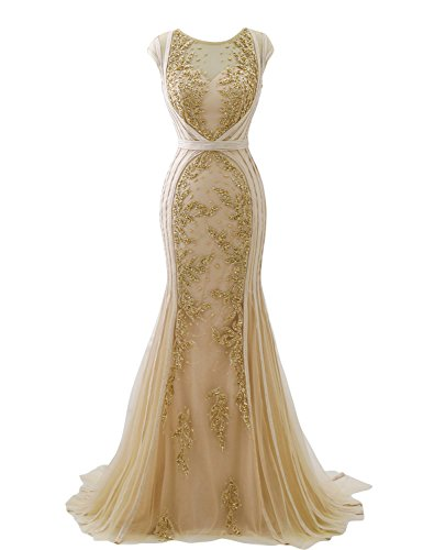 Gold Formal Gown - 9