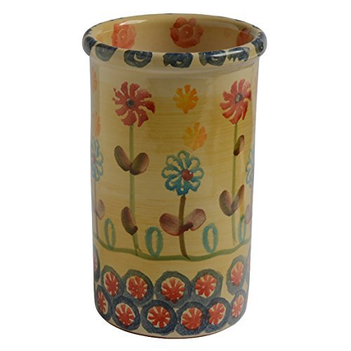 Italian Dinnerware – Utensil Jar – Handmade in Italy from our Festa Collection
