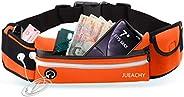 Jueachy Running Belt for Man Women, Fanny Pack Running Waterproof Waist Pouch Phone Holder Adjustable Workout