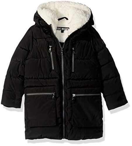 Steve Madden Toddler Girls' Bubble Jacket (More Styles Available), Long Bubble-A1038-Black, 3T by Steve Madden