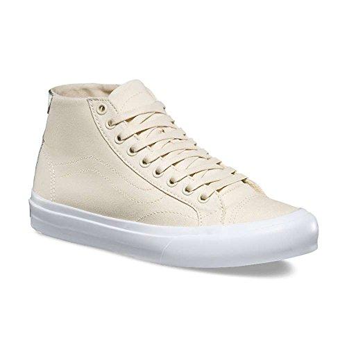 Vans Mens Corte Metà Tela Bassa Allacciate Stringate Moda Sneakers Nuvola Crema / Vero