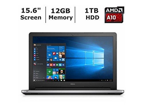 "DELL INSPIRON 15.6"" LED 12GB Ram 1TB Hard Drive AMD A10-8700P 3.20GHz QuadCore DVD+RW WebCam WiFi Laptop Silver"