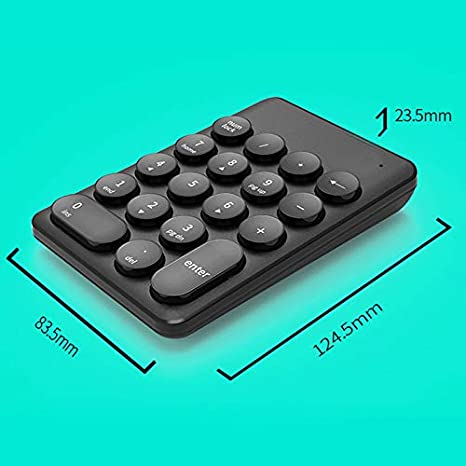 Besay Wireless Mini Keyboard and Mouse Keypad with 18 Round Keys for Laptop PC