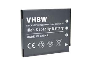 Batería para CASIO EXILIM compatible con NP-60 para EX-FS10 EX-S10 EX-Z9 EX-Z20 EX-Z21 EX-Z80 EX-Z85 EX-S 10 EX-Z 9 20 21 80 85