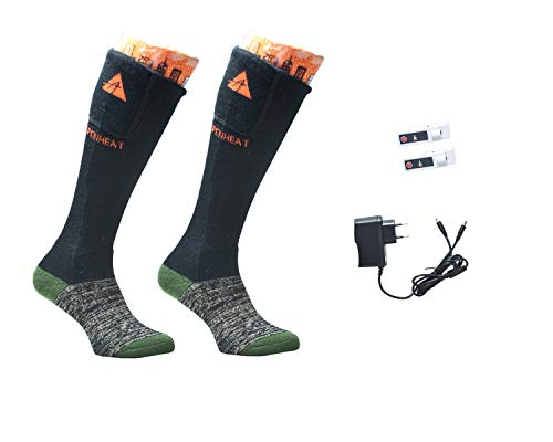 Alpenheat Fire Socks Wool, Beheizte Socken Unisex Erwachsene