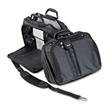 Kensington : Contour 15quot; Notebook Carrying Case, Nylon, 16-1/2 x 6-1/2 x 12-1/2, Black -:- Sold as 2 Packs of - 1 - / - Total of 2 Each