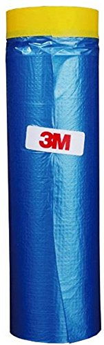 3M Automotive Best Masking Tape Painting, Tape'n Drape Pre-Taped Masking Film 65 feet x 59.1 In