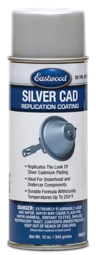 Eastwood Acrylic Silver Cad Lacquer Paint Recover Aerosol 12 oz ()